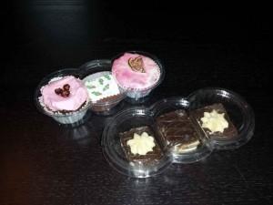 Casolete plastic pentru prajituri