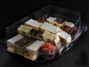 Casolete compartimentate pentru miniprajituri